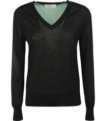 alexander mcqueen colourblock v-neck sweater