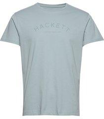 classic logo tee t-shirts short-sleeved blå hackett