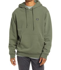 obey men's cotton blend hoodie, size small in thyme at nordstrom