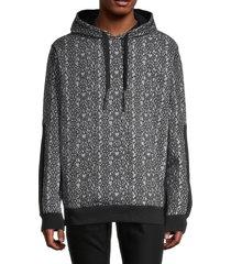 karl lagerfeld paris men's karl-lettered print hoodie - black - size s