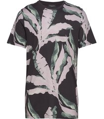 slhavalon aop ss o-neck tee b t-shirts short-sleeved multi/mönstrad selected homme