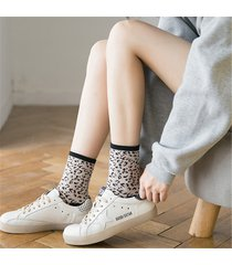 le donne cotton thin leopard traspirante warm soft durable not fade fashion calze