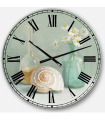 designart nautical and beach oversized metal wall clock