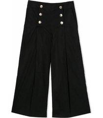 monnalisa black cotton trousers