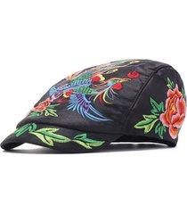 cappellino beret regolabile da donna traspirante stile nazionale cappello da sole vintage
