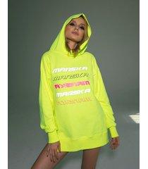 bluza żółta neonowa z odblaskami