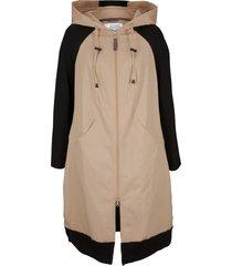 cappotto ampio in cotone con maniche a contrasto (nero) - bpc bonprix collection