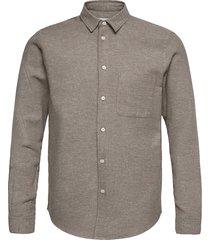 liam nf shirt 7383 overhemd casual beige samsøe samsøe