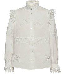 shirt overhemd met lange mouwen wit sofie schnoor