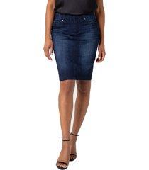 women's liverpool chloe denim pencil skirt, size 16 - blue