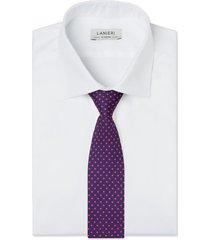 cravatta su misura, lanieri, padova seta blu rosso, quattro stagioni | lanieri
