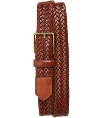 men's cole haan woven leather belt, size 40 - woodbury