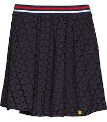 teagan schiffli skirt kort kjol svart superdry