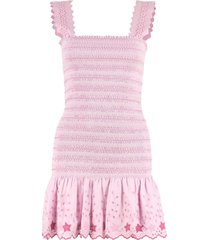 loveshackfancy jax embroidered mini dress