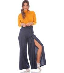 pantalón culotte índigo para mujer x49303