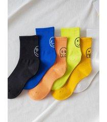 calcetines supersuaves con estampado gráfico de hombre