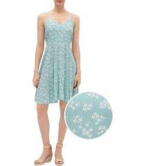 vestido azul-blanco gap mini floral