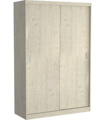 guarda roupa 02 portas de correr 813 marfim areia m foscarini off-white - bege - dafiti