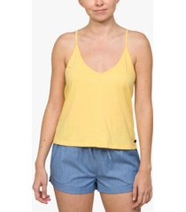 hurley juniors' cotton strappy low-back tank top