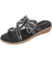 nuevo estilo sandalias antideslizantes mujer-negro
