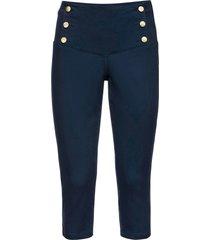 pantaloni capri con bottoni (blu) - bodyflirt boutique