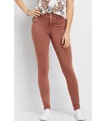 maurices womens denimflex™ high rise terra cota color jegging orange