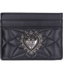 dolce & gabbana quilted leather card holder