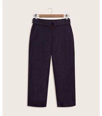 pantalon culotte lino