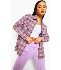 geruite oversized blouse, lilac