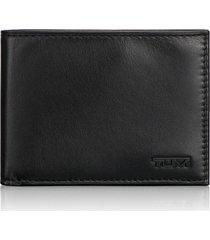 tumi delta global - id lock(tm) shielded double billfold wallet in black at nordstrom
