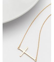 maurices womens dainty goldtone sideways cross necklace