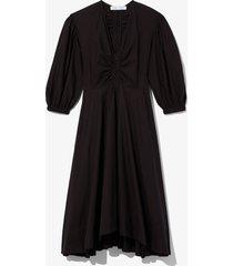 proenza schouler white label puff sleeve poplin dress 00200 black 4