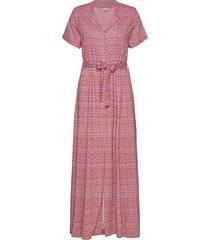 ocean dress maxi dress galajurk roze holzweiler