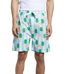 men's sant and abel gray malin beach blue sleep shorts, size x-large - blue