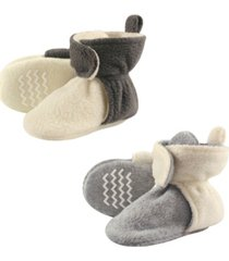 hudson baby fleece lined scooties with non skid bottom, 2-pack, 0months-4t