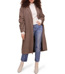 women's astr the label roxanne belted coat, size x-small - brown