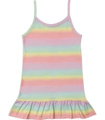 camisola tie dye de malha douvelin rosa - amarelo/rosa - menina - poliã©ster - dafiti