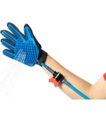 pawsmark pet grooming glove washing bathing portable shower scrubber spray with long hose