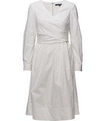 eastside cot ls vnk flrd dress kort klänning vit french connection