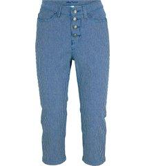 jeans capri elasticizzati a righe (blu) - john baner jeanswear