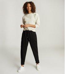 reiss anais - cotton-blend sweatshirt in neutral, womens, size xl