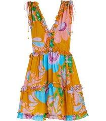 teddy floral mini dress