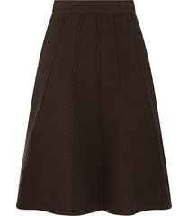 lisa cable knit midi skirt