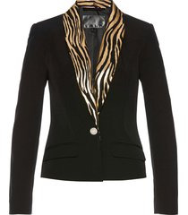blazer in fantasia lucida (nero) - bpc selection