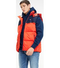 parka fabric mix bicolor tommy jeans