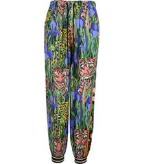 gucci bi-material harem style trousers