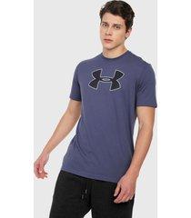 camiseta azul-negro under armour big logo ss