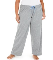 hue plus size scribble pajama pants