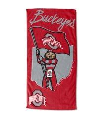 "northwest company ohio state buckeyes 30x60 ""stateline"" beach towel"