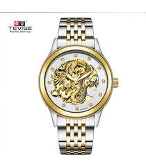 reloj mecánico automático luminoso luminoso-dorado